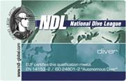 Обучение дайвингу. Стартовый уровень NDL Diver